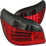 2006 BMW 5 Series Red and Smoked LED Tail Lights