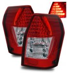 Dodge Magnum 2005-2008 Red and Clear LED Tail Lights