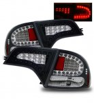 Honda Civic Sedan 2006-2011 LED Tail Lights Black
