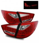 Hyundai Tucson 2010-2012 LED Tail Lights Red and Clear