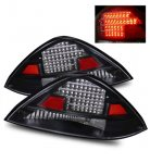 2004 Honda Accord Coupe LED Tail Lights Black