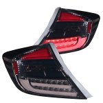 2012 Honda Civic Sedan LED Tail Lights Smoked