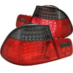 2000 BMW 3 Series Coupe Red and Smoked LED Tail Lights