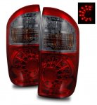 Toyota Tundra Double Cab 2004-2006 LED Tail Lights Red and Smoked