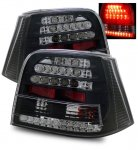VW Golf 1999-2004 LED Tail Lights Black