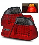2002 BMW 3 Series Sedan Red and Smoked LED Tail Lights