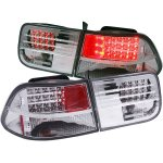 2000 Honda Civic Coupe Clear LED Tail Lights