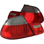 2003 BMW 3 Series Convertible Red and Clear LED Tail Lights