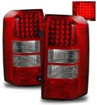 Jeep Patriot 2007-2011 Red and Clear LED Tail Lights