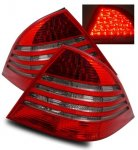 Mercedes Benz S Class 2000-2005 LED Tail Lights Red and Smoked