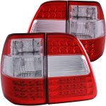 2002 Toyota Land Cruiser LED Tail Lights Red and Clear