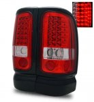 1997 Dodge Ram LED Tail Lights Red and Clear