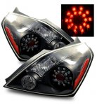 Nissan Altima Coupe 2008-2010 LED Tail Lights Black