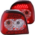 VW Golf 1992-1998 LED Tail Lights Red and Clear