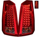 Cadillac CTS 2003-2007 Red and Clear LED Tail Lights