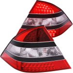 Mercedes Benz S Class 2000-2005 LED Tail Lights Black Trim