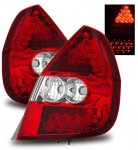 Honda Fit 2006-2008 Red and Clear LED Tail Lights