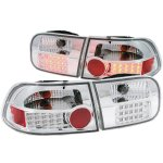 Honda Civic 1992-1995 Clear LED Tail Lights
