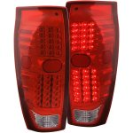 2005 Chevy Avalanche Red and Clear LED Tail Lights