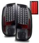 Ford F250 Super Duty 2008-2013 Smoked LED Tail Lights