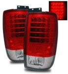 1999 Ford Expedition Red and Clear LED Tail Lights