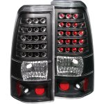 2000 Chevy Silverado LED Tail Lights Black