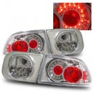 Honda Civic 1992-1995 Chrome Ring LED Tail Lights