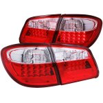 Infiniti I30 2000-2001 Red and Clear LED Tail Lights