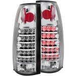 1997 GMC Yukon LED Tail Lights Chrome Housing
