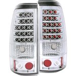 2004 GMC Sierra LED Tail Lights Chrome