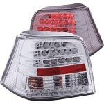 VW Golf 1999-2004 LED Tail Lights Chrome