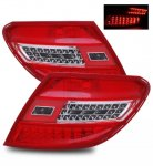 Mercedes Benz C Class 2008-2010 LED Tail Lights Red and Clear