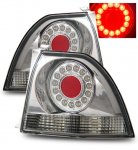 Honda Accord 1994-1995 Chrome Ring LED Tail Lights