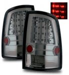 Dodge Ram 2009-2015 LED Tail Lights Smoked Chrome