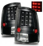 2010 Dodge Ram 3500 LED Tail Lights Black