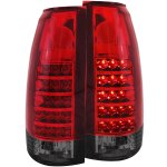 1998 GMC Sierra 2500 Red and Smoked LED Tail Lights