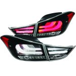 2012 Hyundai Elantra LED Tail Lights Black