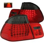 2000 BMW 3 Series Sedan Red and Smoked LED Tail Lights