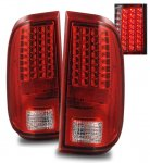 Ford F250 Super Duty 2008-2013 LED Tail Lights Red and Clear