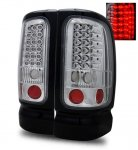 1997 Dodge Ram LED Tail Lights Chrome
