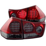 Lexus RX350 2004-2009 Red and Smoked LED Tail Lights