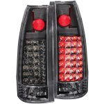 1990 Chevy 3500 Pickup Black LED Tail Lights Black