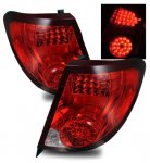 Saturn lon Coupe 2003-2007 LED Tail Lights Red and Clear