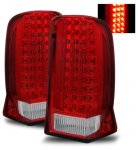 2006 Cadillac Escalade Red and Clear LED Tail Lights