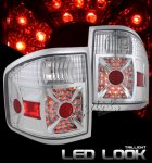 2004 Ford F150 Flareside Clear LED Style Tail Lights