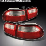1993 Honda Civic Hatchback Red and Clear JDM Tail Lights