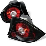 Honda Civic Coupe 2001-2003 JDM Black Altezza Tail Lights