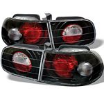 1993 Honda Civic Hatchback JDM Black Altezza Tail Lights