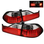 1998 Honda Accord Sedan Red and Clear LED Tail Lights