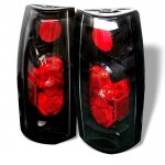 Chevy Suburban 1992-1999 Black Altezza Tail Lights